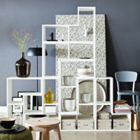 Tetris Stacking Shelves - White