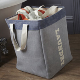 Square Canvas Laundry Bag