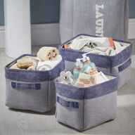 3 x Mini Canvas Storage Bags