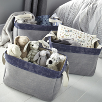 3 x Large Canvas Storage Bags