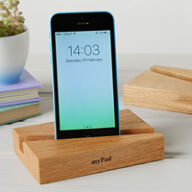 myPad Solid Oak Tablet & Smart Phone Stand