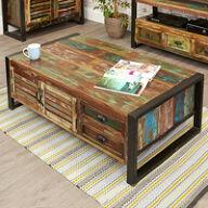 4 Door 4 Drawer Large Coffee Table - Urban Chic