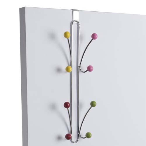 Over Door Vertical Multicoloured Coloured Hook