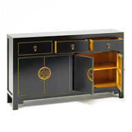 The Nine Schools Qing Black and Gilt Sideboard - Large
