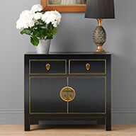 The Nine Schools Qing Black and Gilt Sideboard - Small