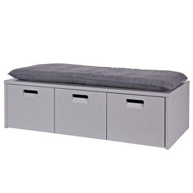 Storage Bench in Concrete Grey with Cushion