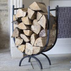 Wrought Iron Log Holder - Large