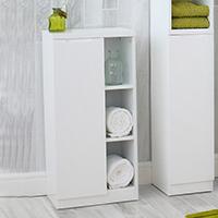 High Gloss Compact Bathroom - Cabinet