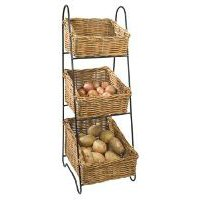 Wicker Vegetable Basket Tower