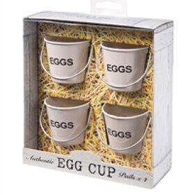 Set of 4 Mini Bucket Egg Cups