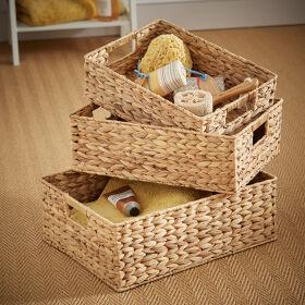 Set of 3 Water Hyacinth Baskets