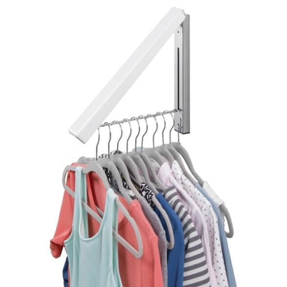 Wall Mounted Clothes Valet Hanger Airer Store