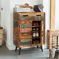 Shoe Storage Cupboard - Coastal Chic