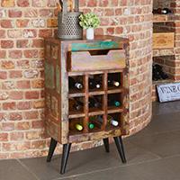 Wine Rack Lamp Table - Coastal Chic