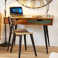 Laptop Desk / Dressing Table - Coastal Chic