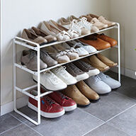 3-Tier Extending and Stacking Shoe Rack
