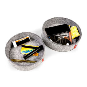 Set Of 2 Felt Storage Trays