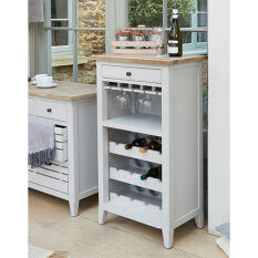 Grey Wood Wine & Glass Storage Cabinet - Signature