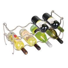Stacking Chromed Wine Rack - Lyra