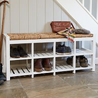 8 Cubby Hallway Storage Bench - 3 Seater