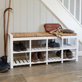 8 Cubby Hallway Storage Bench - 3 Seater