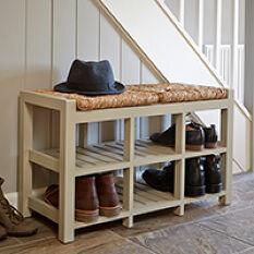 6 Cubby Hallway Storage Bench - 2 Seater
