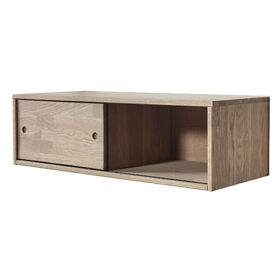 Oak Gyan Cabinet With Sliding Door