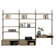 Oak Gyan Storage Triple Unit