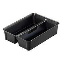 2-Compartment Divider Tray with Carry Handle