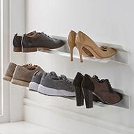 2 x Wall Mounted Shoe Racks - Small