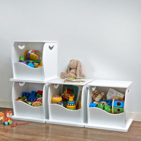 4 x Stacking Open Toy Storage Trunks