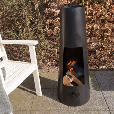 Tall Round Fire Bowl