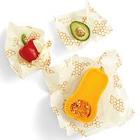 Set of 3 Bee's Wrap Honeycomb Reusable Sandwich Wraps