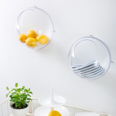 2 x Wall Mounted Fruit Bowls