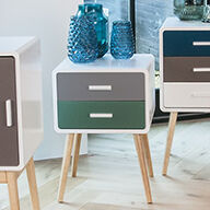 2 Drawer Side Table - Neat