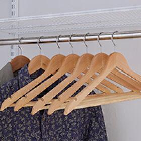 Set of 50 Wooden Hangers