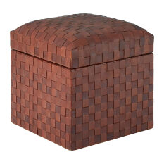 Leather Storage Stool - Inca
