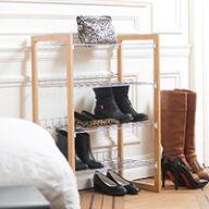 4 Tier Stackable Shoe Shelf Unit