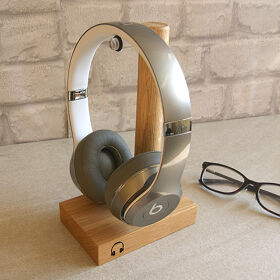 Solid Oak Headphone Stand