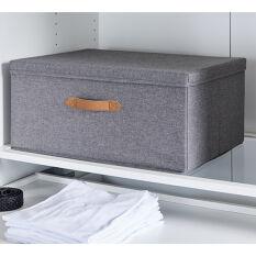 Grey Fabric Storage Box