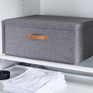 Grey Fabric Storage Box