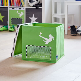 Football Toy Storage Box with Lid