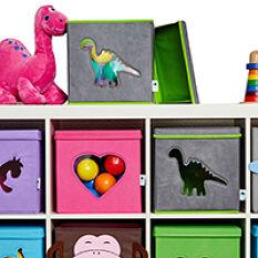 Lidded Toy Storage Cube With Window