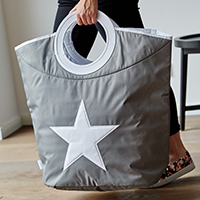 Grey Laundry Bag - Star