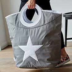 Grey Laundry Bag - Star