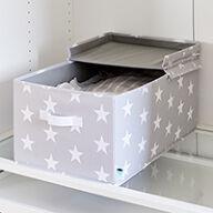 Lidded Star Storage Box with Handle