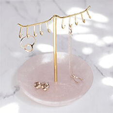 Stackers Jewellery Stand - Pink Quartz & Rose Gold