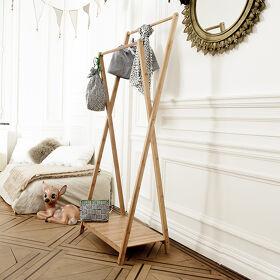 Malmo Double Clothes Rail - Bamboo