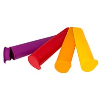 Set of 4 Silicone Classic Ice Lolly Moulds