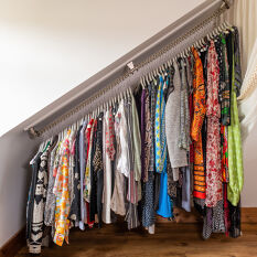 Any Angle Clothes Hanging Rail - Zebedee 90cm